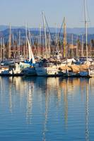 Sunrise over the Ventura marina in California