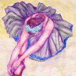 """Ballerina in Purple"" by mqmysticenterprise"