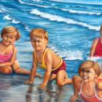 """children on the beach"" by Lwiedemer"