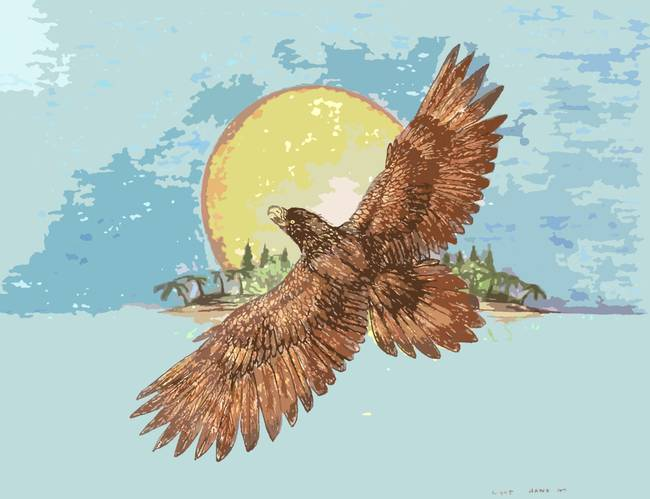 Stunning lightning hawk artwork for sale on fine art prints for Alex cherry eagles become wall mural