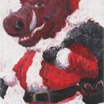 """Razorback Santa"" by nadinerippelmeyer"