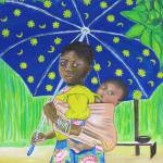 """Girl with Umbrella"" by Tessimal"