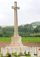 Cross of Sacrifice at Heilly cemetery