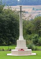 Cross of Sacrifice at the Thiepval Memorial