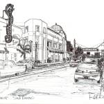 """Drawing of Hillcrest, San Diego California"" by BeaconArtWorksCorporation"