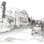 """Drawing of Hillcrest, San Diego California"" by RDRiccoboni"