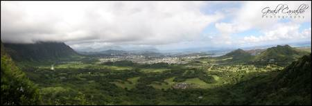 Pali outlook view, Hawaii
