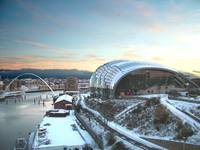 Snow Sunrise over the Sage