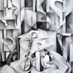 """Cubist Still Life Drawing Study b185"" by mrddixon"