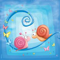 Kids room blue trilogy: Snails