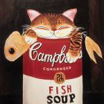 """Cat art by catmaSutra - Fishsoup"" by catmasutra"
