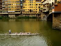 rowing at PonteVecchio