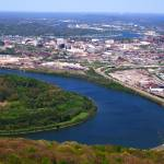 """Chattanooga Tennessee & Tennessee River"" by csm242000"