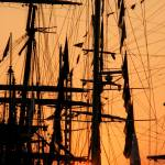 """Masts at Sunset"" by MidenianScholar"