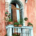 """Balcony in Venice"" by Cas"