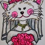 """Bride To Be Kitty"" by LisaLorenz"