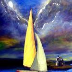 """""""Runaway Sailboat"""" by monalisyartist"""