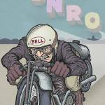 """Burt Munro: New Zealand Speed Demon"" by mariozuccaillustration"