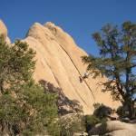 """Climber Rapelling on Locomotion Rock"" by Eileen"