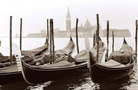 Gondolas Keeping watch on Venice