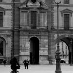 """bicyclist at the louvre - Paris"" by dpbtwo"