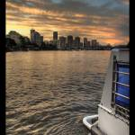 """Brisbane sunset"" by majkl20"