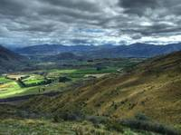 Looking into valley near Wanaka.
