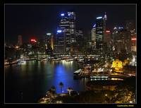 Sydney downtown at night