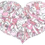 """""""Whimsical Pink Heart"""" by createdcreating"""