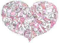 Whimsical Pink Heart