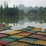 """Lake and boats in Guilin"" by matea"