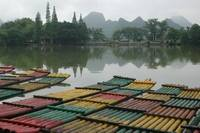 Lake and boats in Guilin