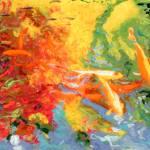 """Koi Pond by RD Riccoboni Beverly Hills California"" by BeaconArtWorksCorporation"