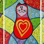 """3 funky cats with golden hearts"" by vitbich"