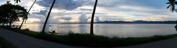 Panoramic Fiji Sunset