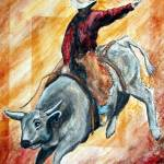 """""""Bull and Rider"""" by SherryHolderHunt"""