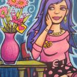 """Hoochie with flowers"" by Moontree"