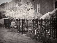 Dublin Bicycle - black and white infrared photo