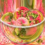 """Mimosa Bowl of Amazing Circles"" by tricia"