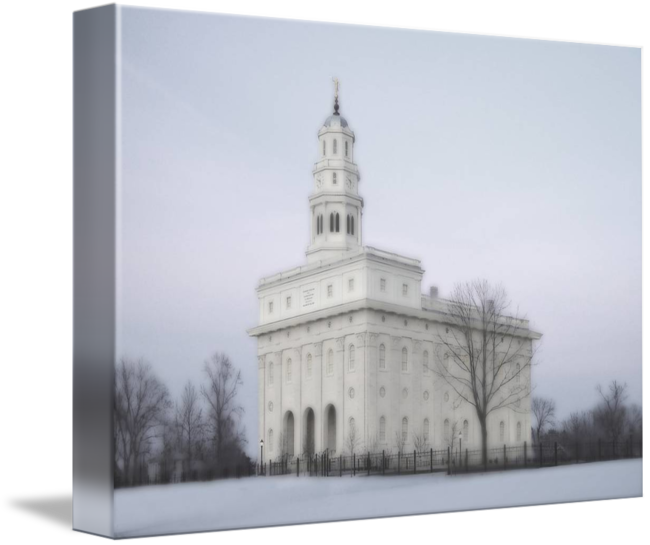 Nauvoo Temple Large 16x22 Tinted By Terry Springer