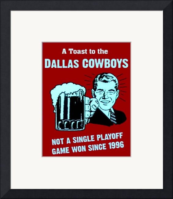 Hate The Dallas Cowboys Funny Sign By Paul Van Scott