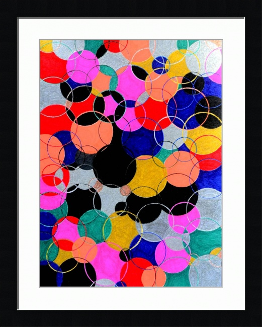ABSTRACT PAINTED PHOTOGRAPHIC ART DESCRIPTION: Title: