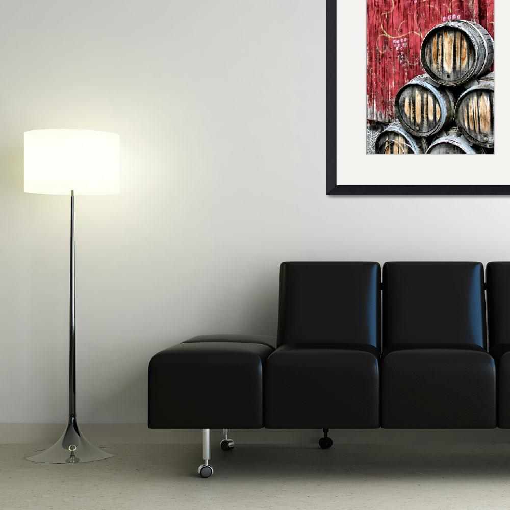 """Wine Barrels&quot  (2009) by hockmanphotography"
