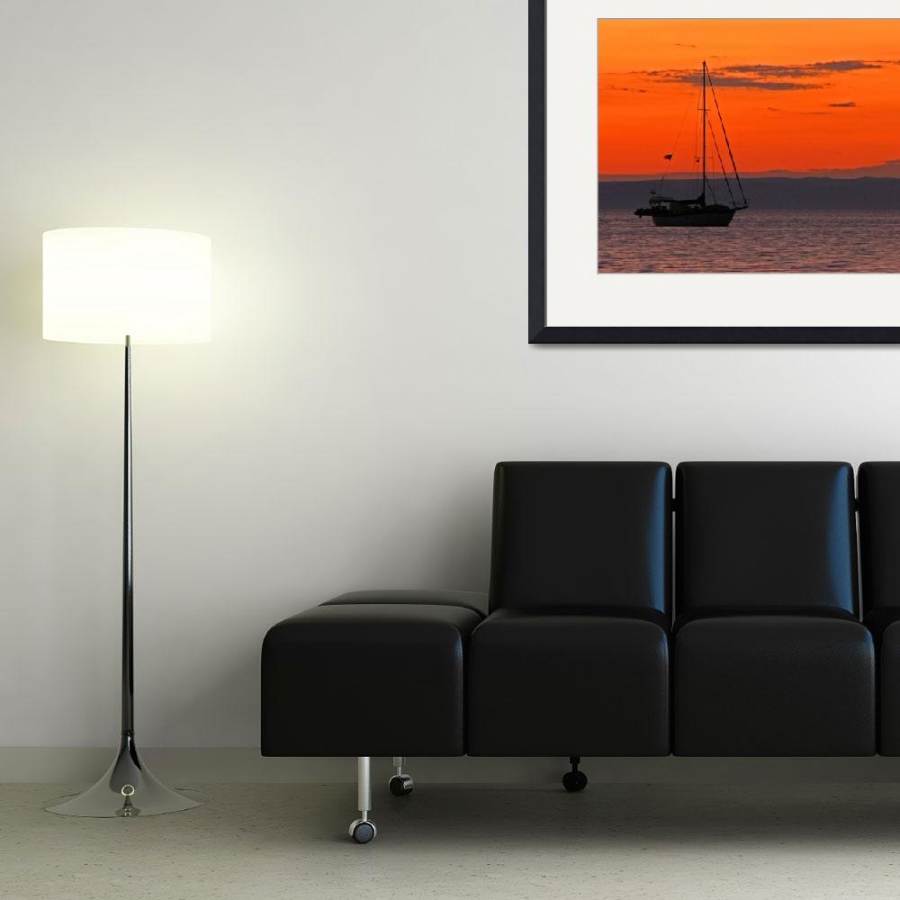 """Sailboat at Sunset&quot  (2012) by almarphotography"