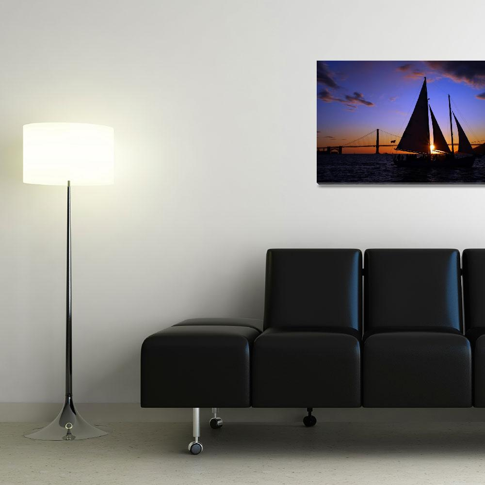 """Schooner Sunset on the Bay&quot  (2009) by PadgettGallery"