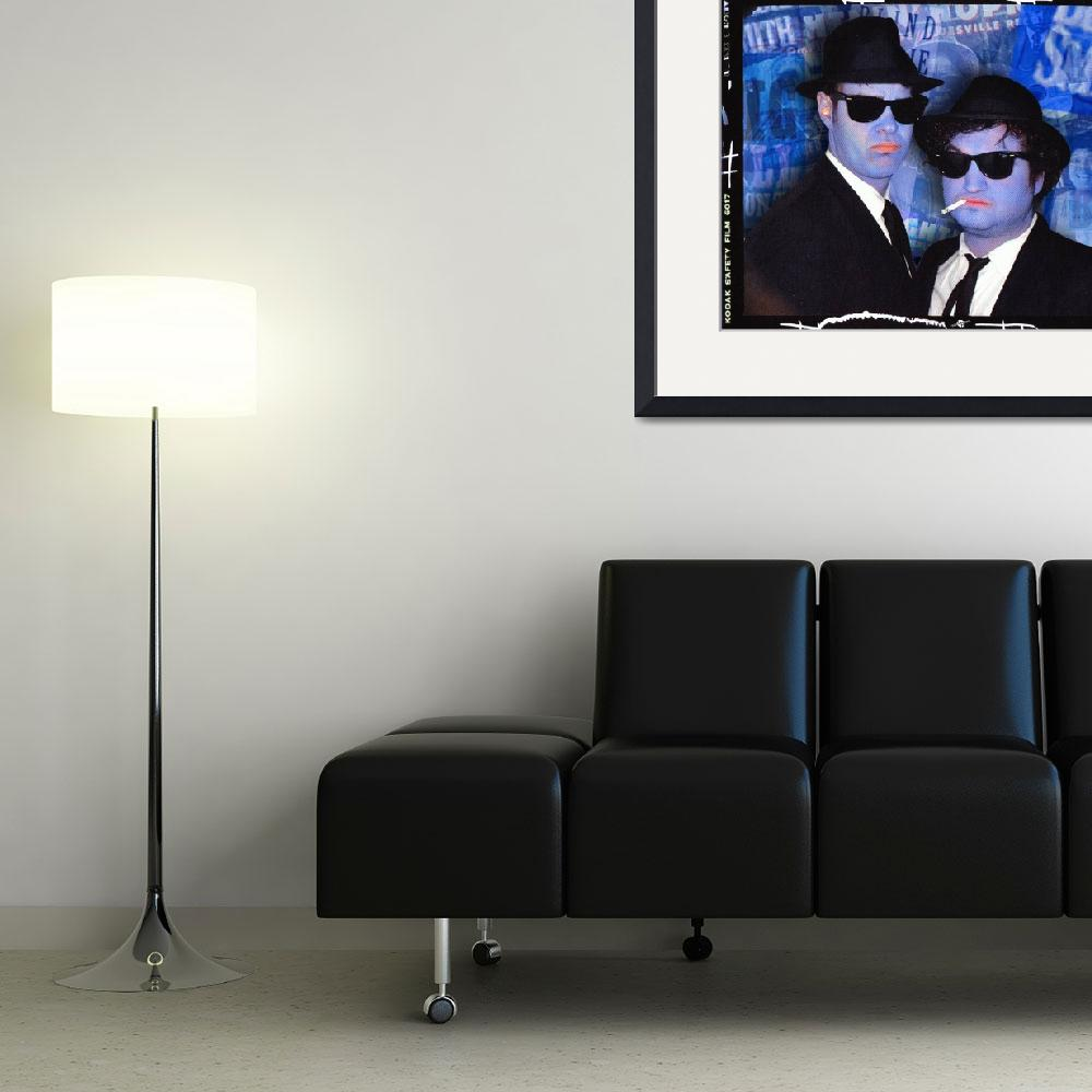 """Blues Brothers Blue&quot  by RubinoFineArt"