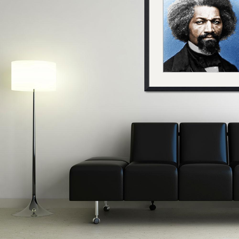 """Frederick Douglass Painting In Color&quot  (2015) by RubinoFineArt"