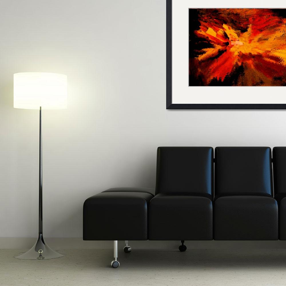 """Red Explosion&quot  (2012) by KsWorldArt"