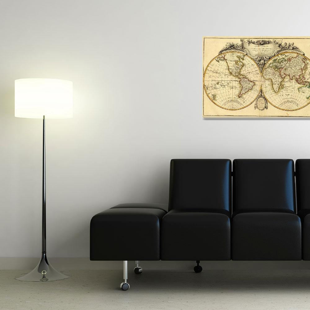 """Old Fashioned World Map (1782)&quot  by Alleycatshirts"