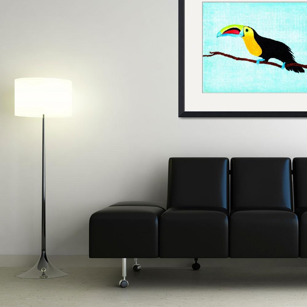 """Toucan at rest&quot  (2013) by LimeCreekArt"